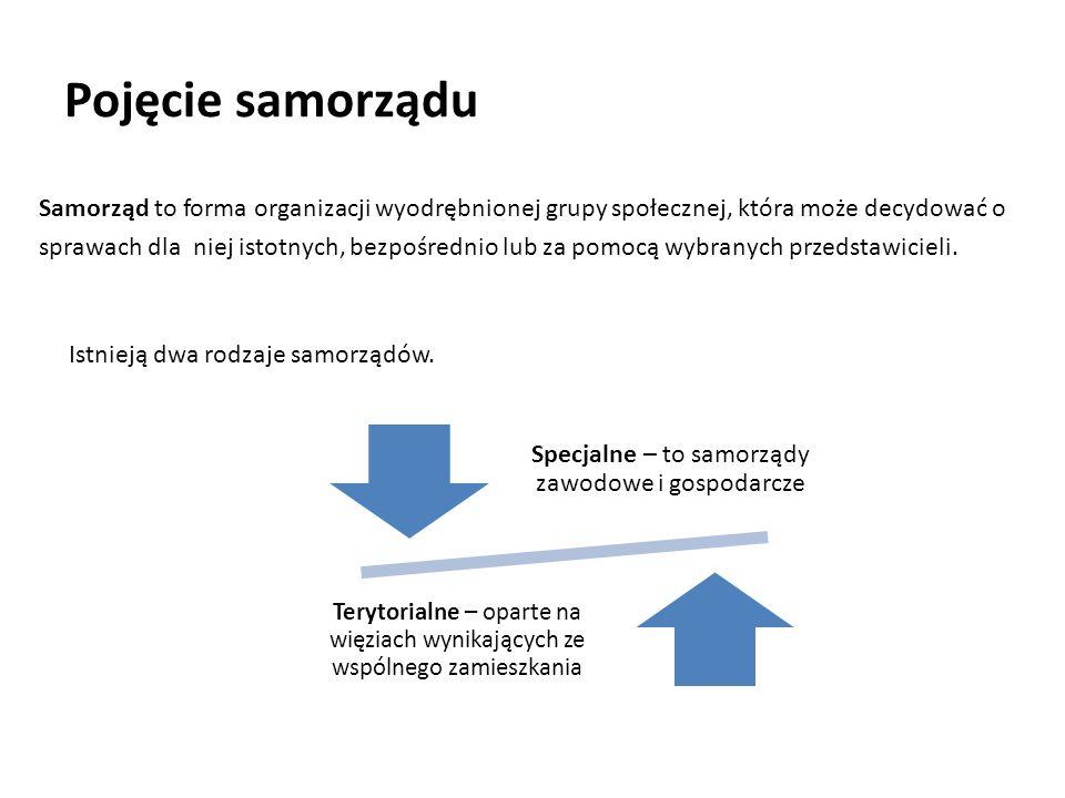 Specjalne – to samorządy zawodowe i gospodarcze