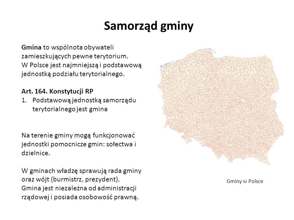 Samorząd gminyGmina to wspólnota obywateli zamieszkujących pewne terytorium.