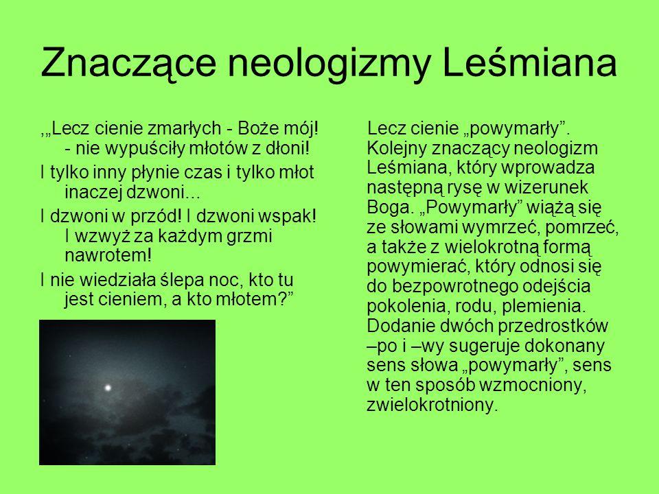 Znaczące neologizmy Leśmiana
