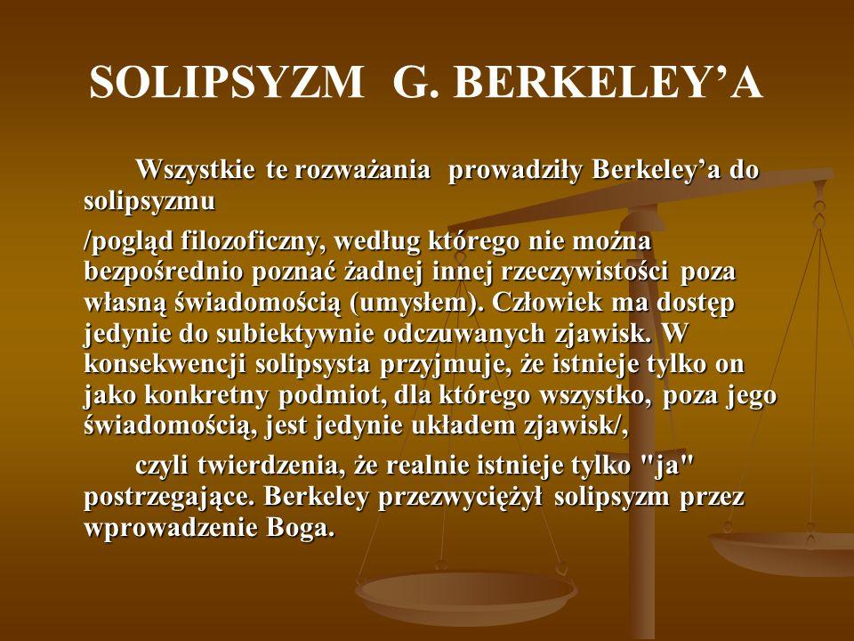 SOLIPSYZM G. BERKELEY'A