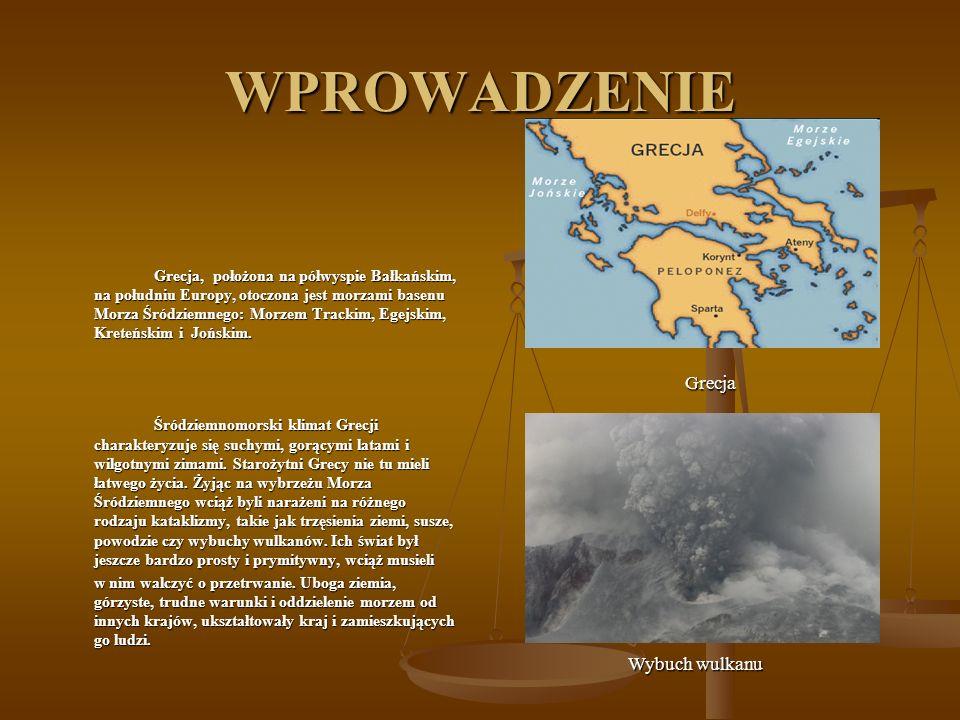 WPROWADZENIE Grecja Wybuch wulkanu