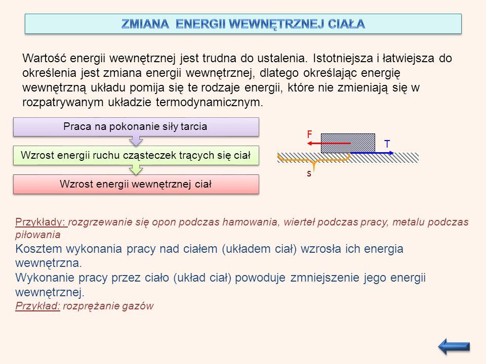 ZMIANA ENERGII WEWNĘTRZNEJ CIAŁA