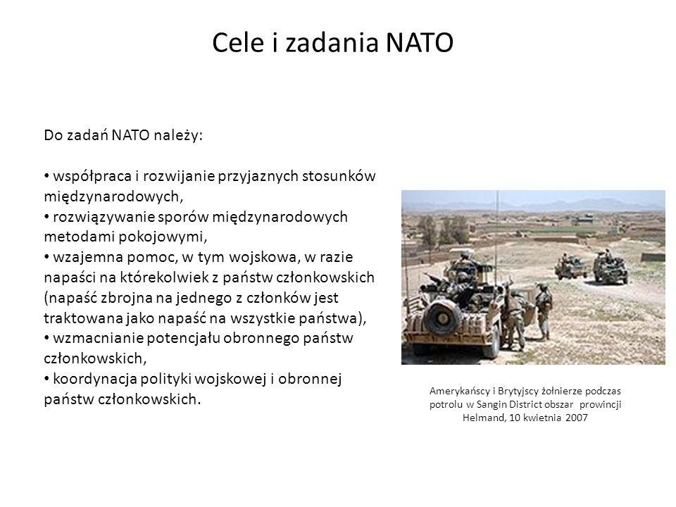 Cele i zadania NATO Do zadań NATO należy: