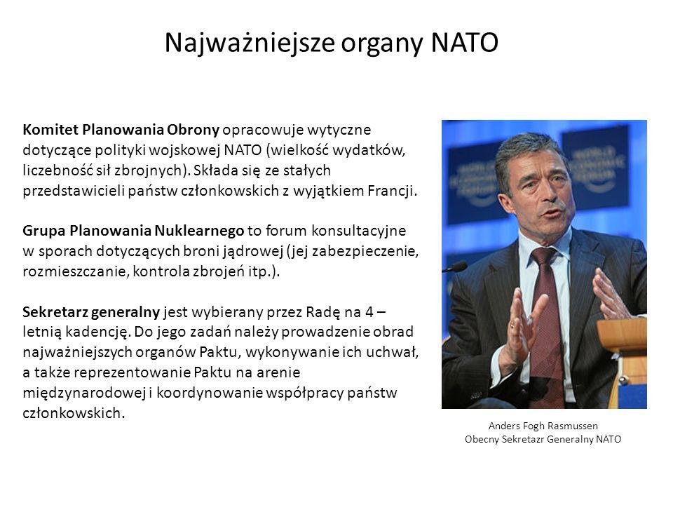 Najważniejsze organy NATO