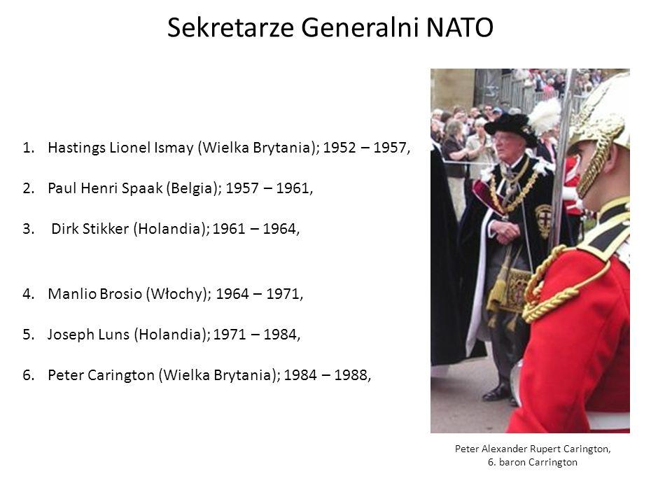 Sekretarze Generalni NATO