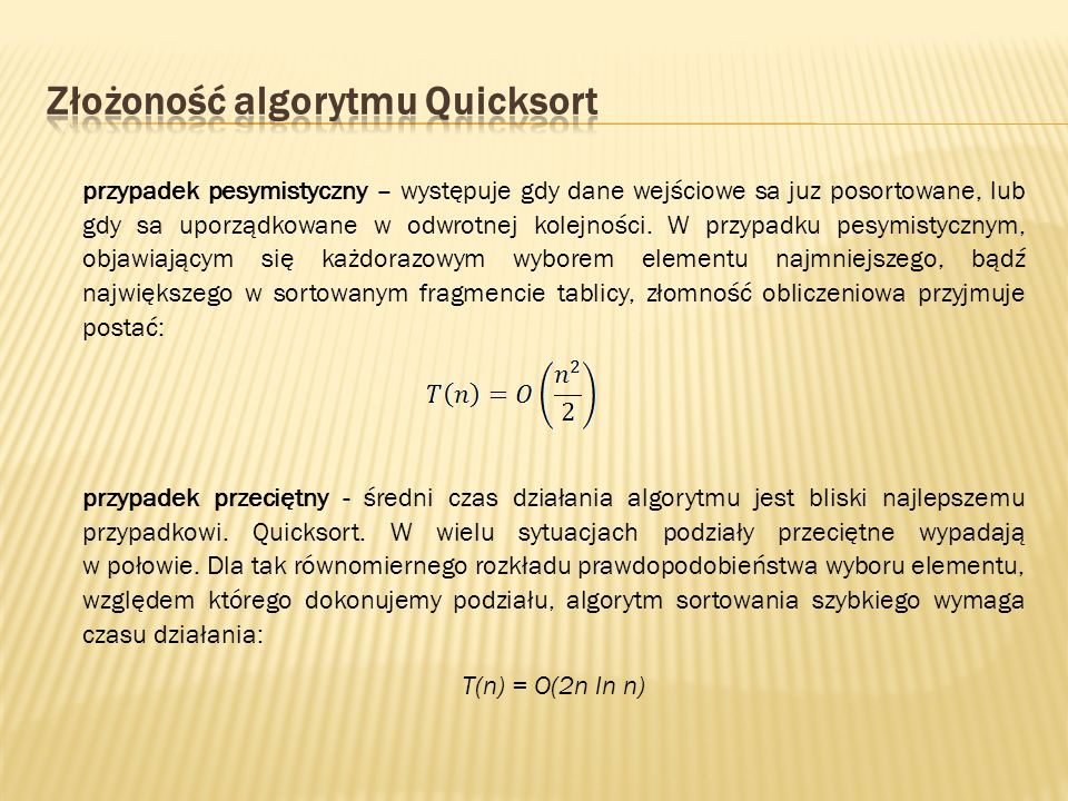 Złożoność algorytmu Quicksort