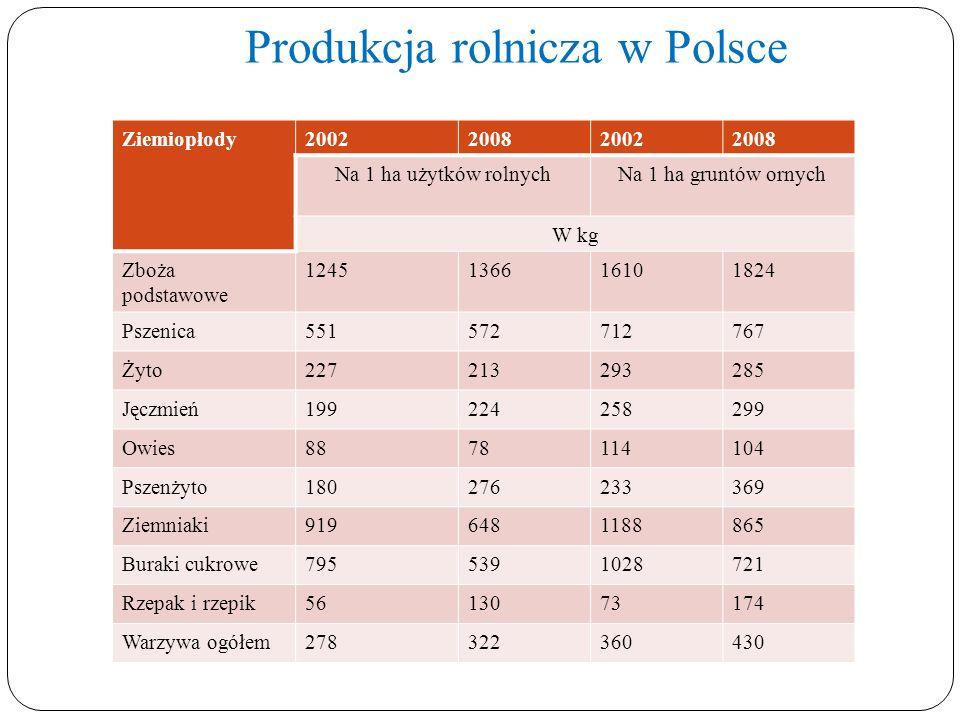 Produkcja rolnicza w Polsce