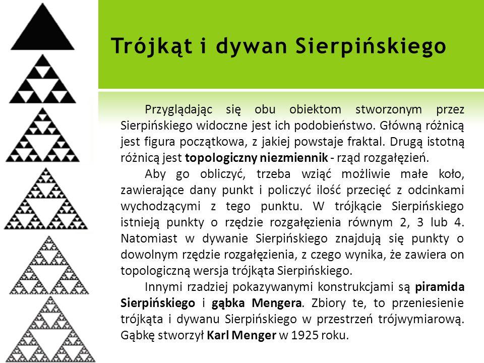 Trójkąt i dywan Sierpińskiego