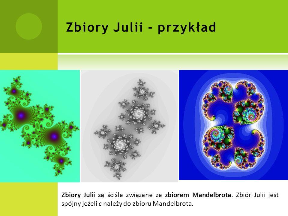Zbiory Julii - przykład
