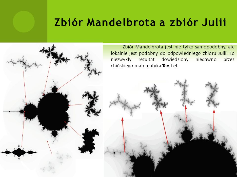 Zbiór Mandelbrota a zbiór Julii