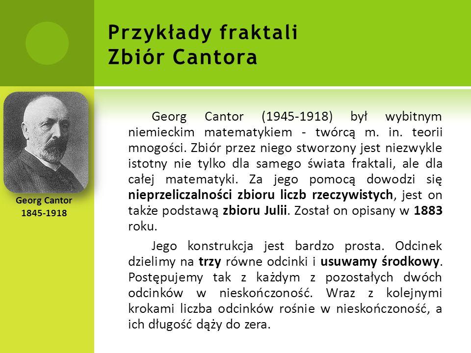 Przykłady fraktali Zbiór Cantora