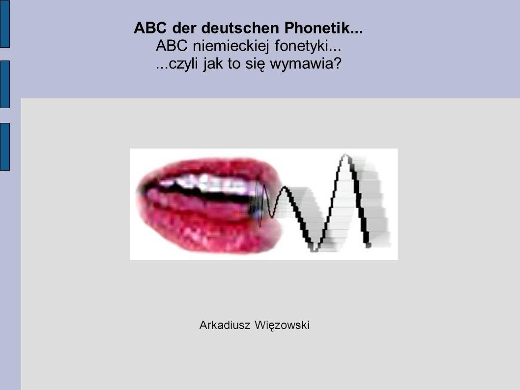 ABC der deutschen Phonetik...
