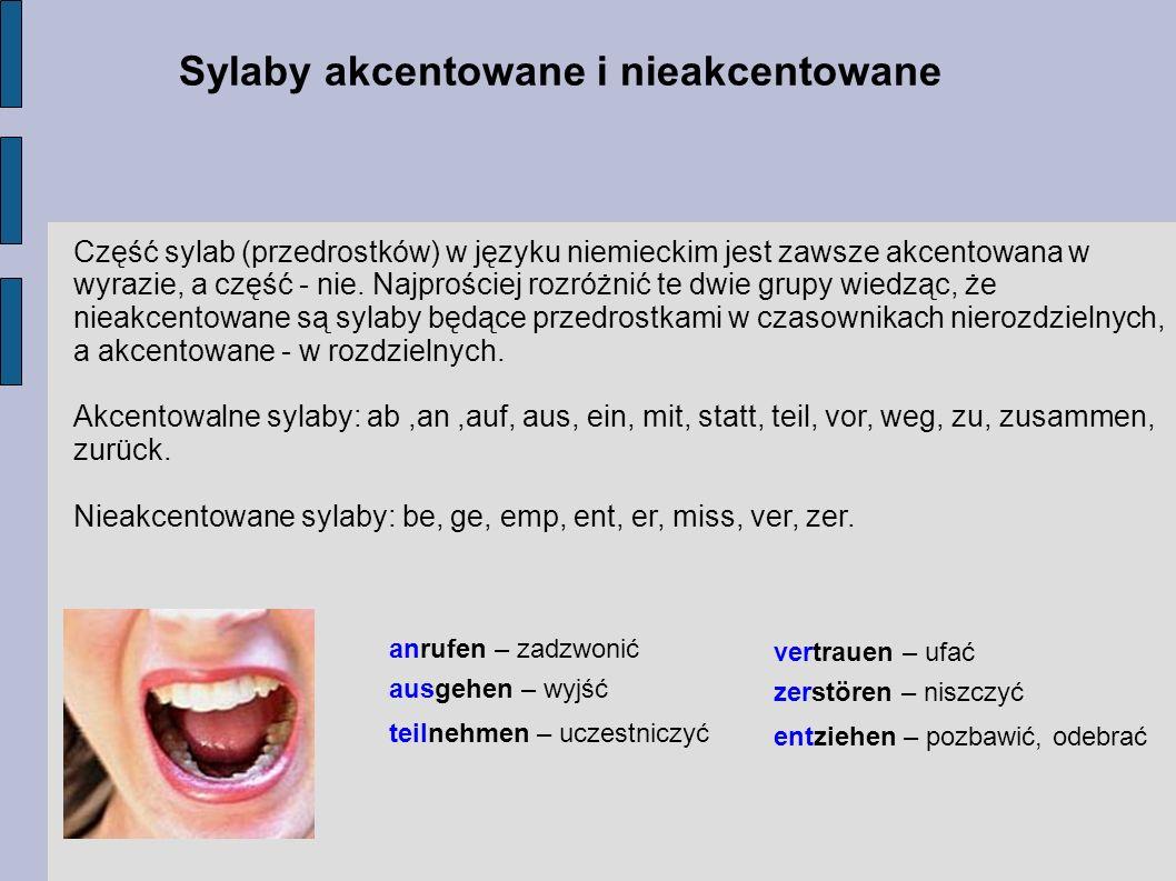 Sylaby akcentowane i nieakcentowane