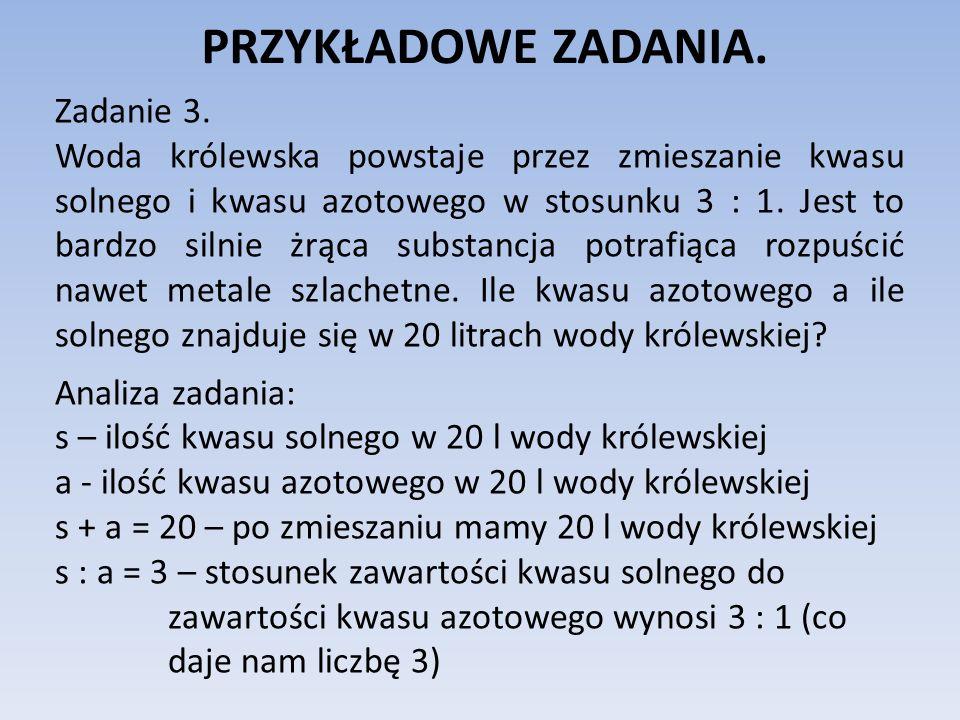 PRZYKŁADOWE ZADANIA. Zadanie 3.