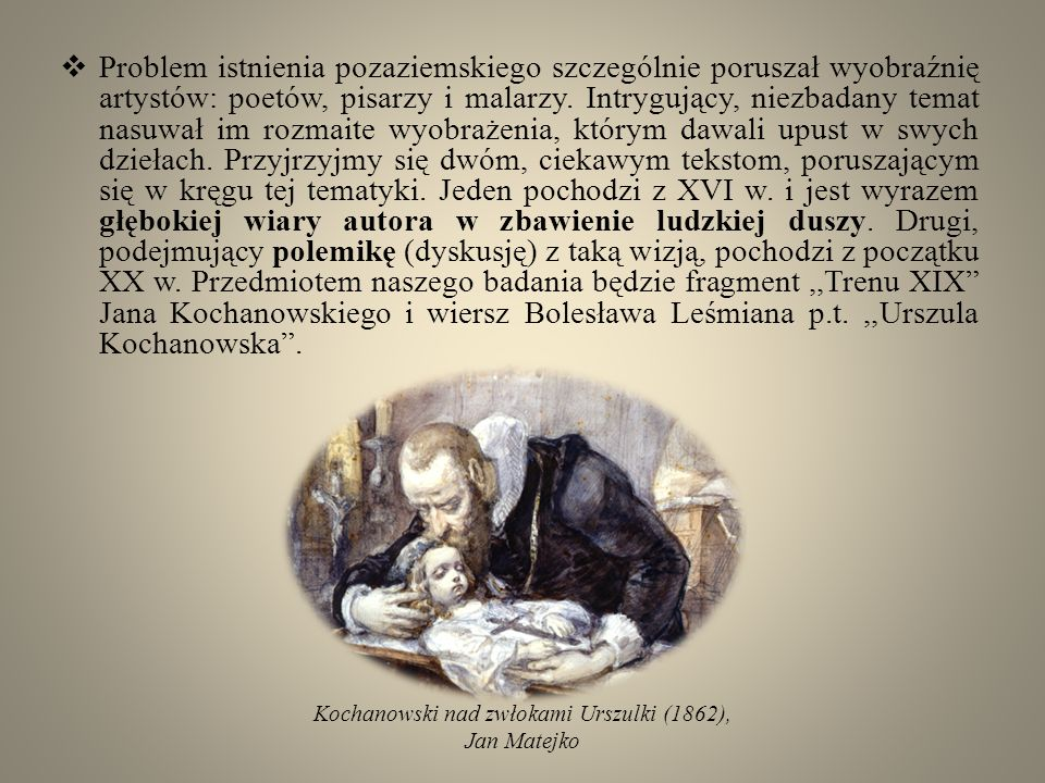 Kochanowski nad zwłokami Urszulki (1862),