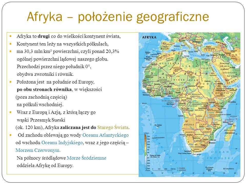 Afryka – położenie geograficzne