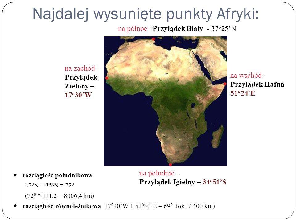 Najdalej wysunięte punkty Afryki: