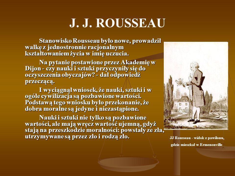 JJ Rousseau - widok z pawilonu,