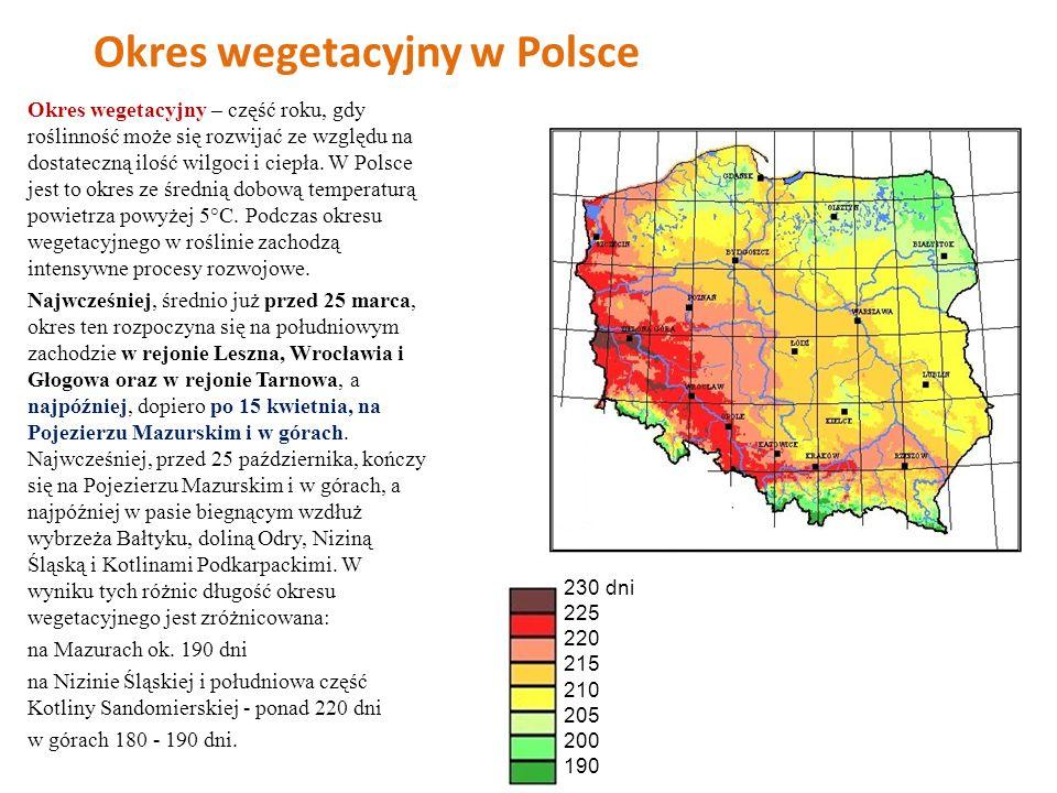Okres wegetacyjny w Polsce