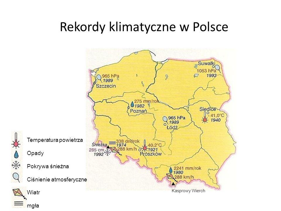 Rekordy klimatyczne w Polsce