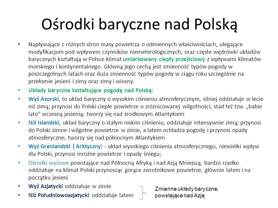 Ośrodki baryczne nad Polską