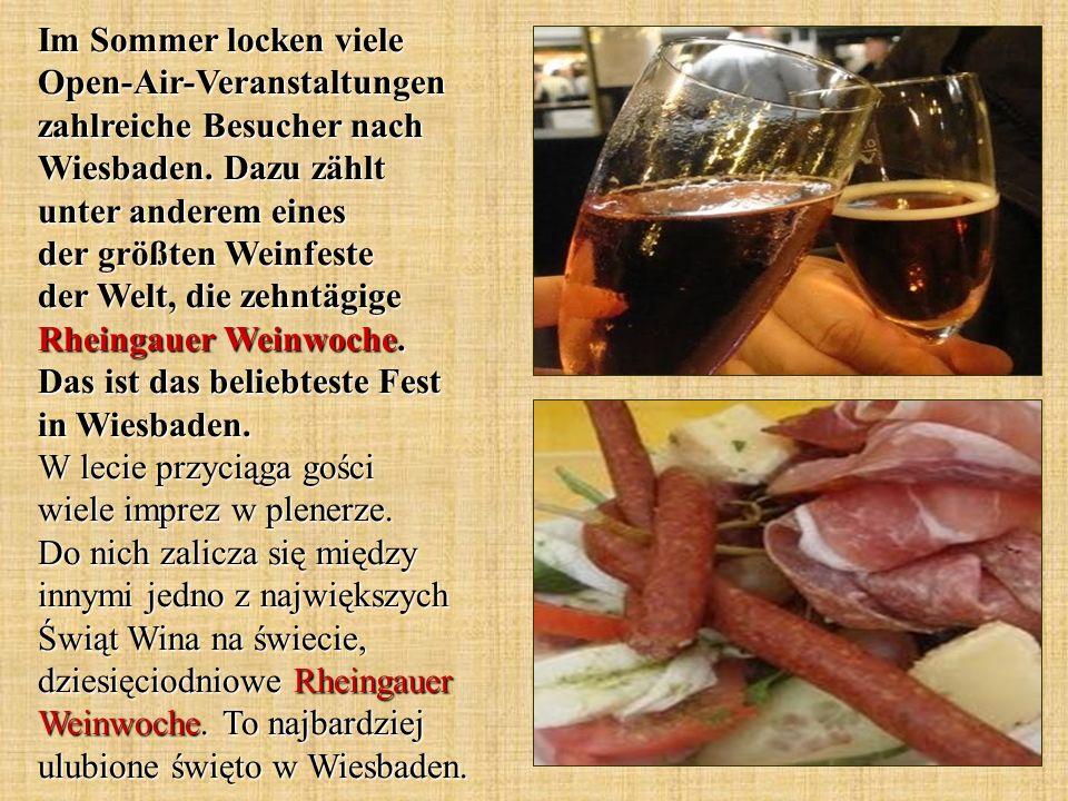 Im Sommer locken viele Open-Air-Veranstaltungen zahlreiche Besucher nach Wiesbaden.