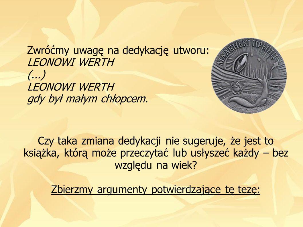 Zwróćmy uwagę na dedykację utworu: LEONOWI WERTH (