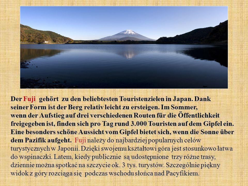 Der Fuji gehört zu den beliebtesten Touristenzielen in Japan