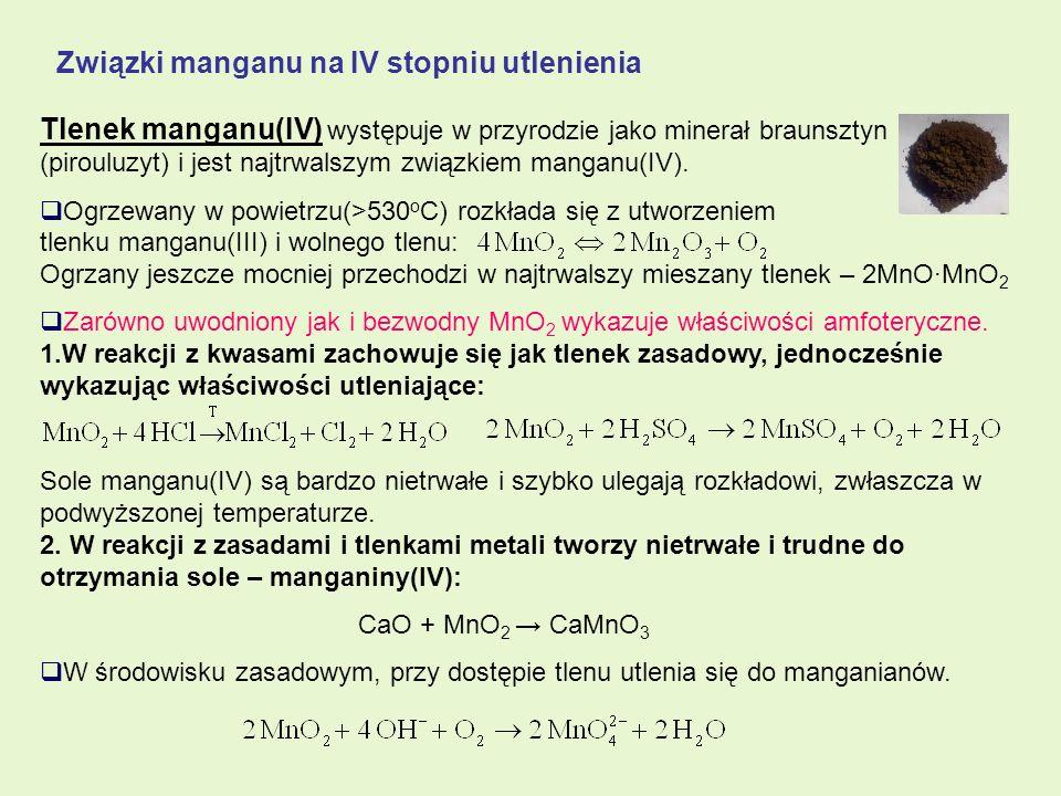 Związki manganu na IV stopniu utlenienia