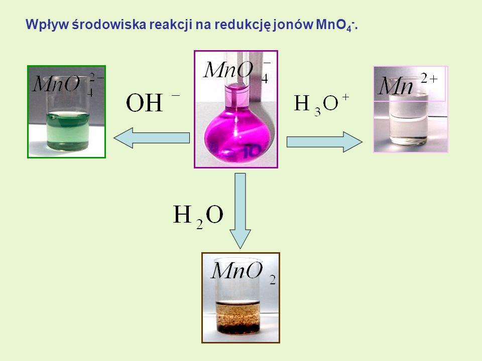Wpływ środowiska reakcji na redukcję jonów MnO4-.