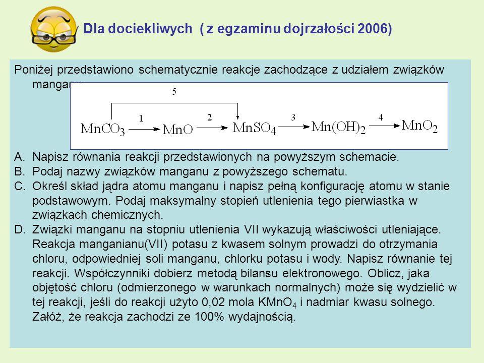 Dla dociekliwych ( z egzaminu dojrzałości 2006)