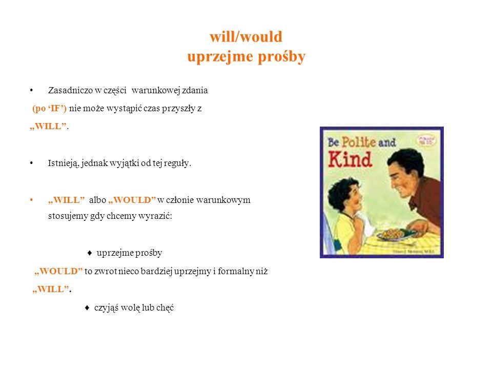 will/would uprzejme prośby