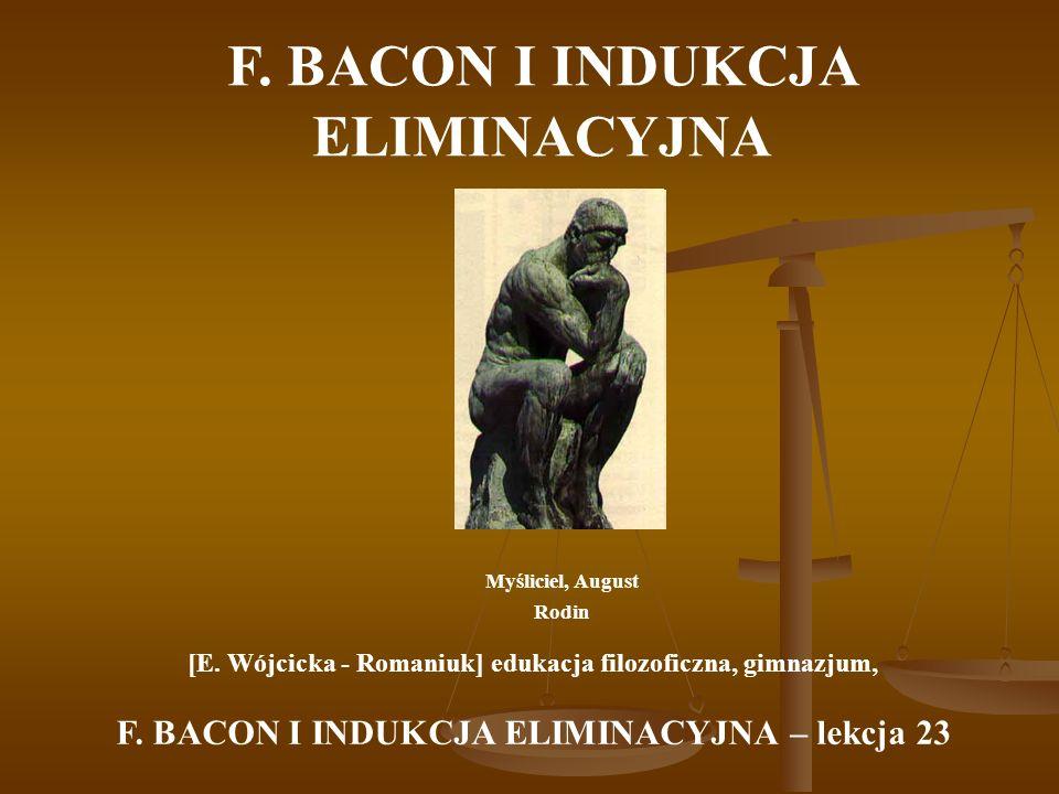 F. BACON I INDUKCJA ELIMINACYJNA