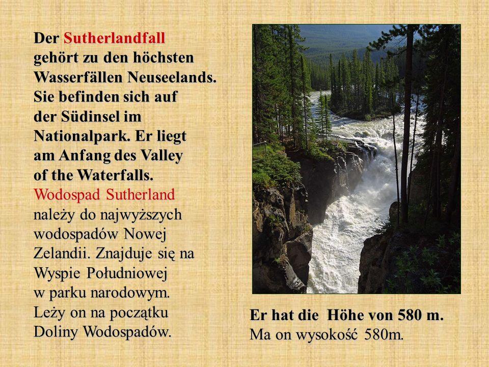 Der Sutherlandfall gehört zu den höchsten Wasserfällen Neuseelands