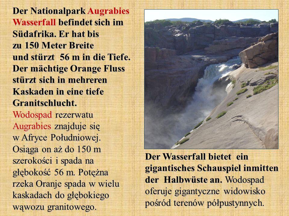 Der Nationalpark Augrabies Wasserfall befindet sich im Südafrika