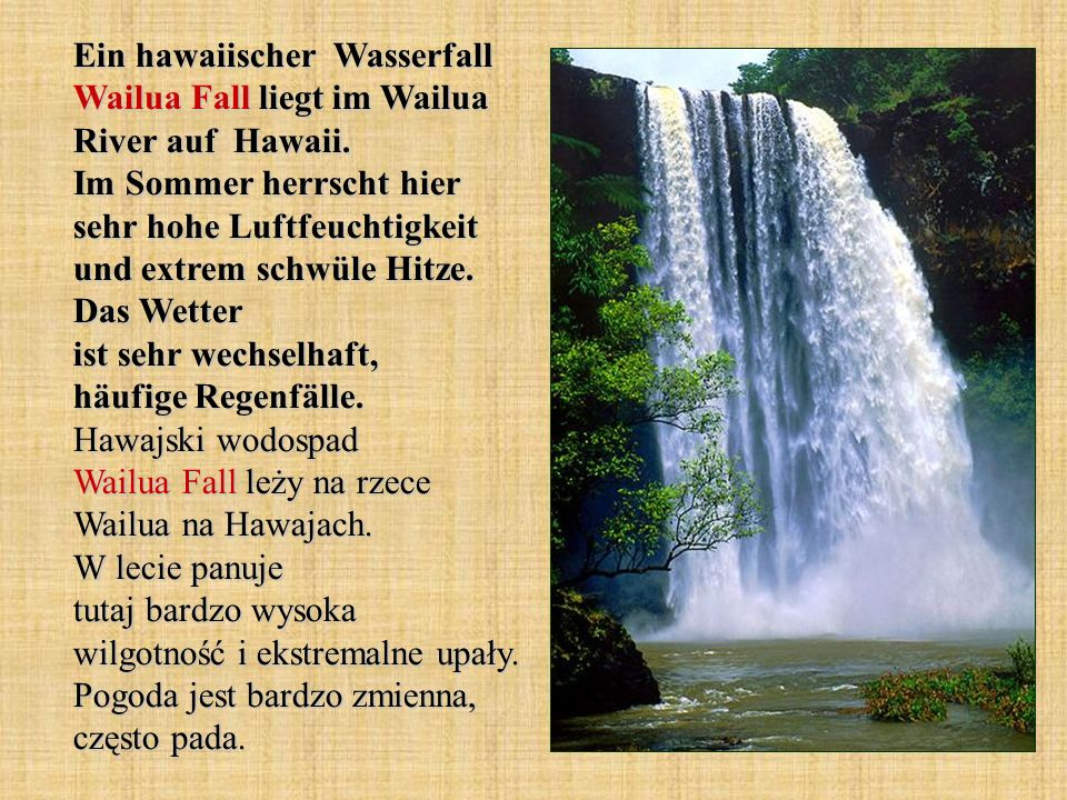 Ein hawaiischer Wasserfall Wailua Fall liegt im Wailua River auf Hawaii.