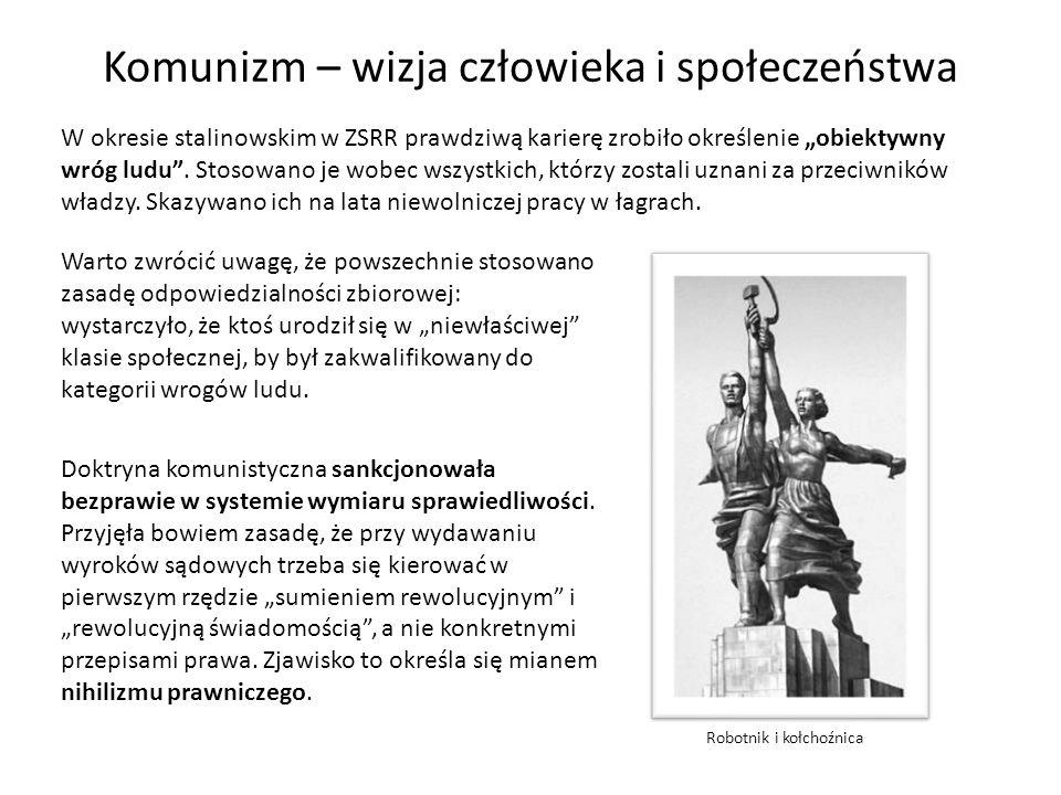 Komunizm – wizja człowieka i społeczeństwa