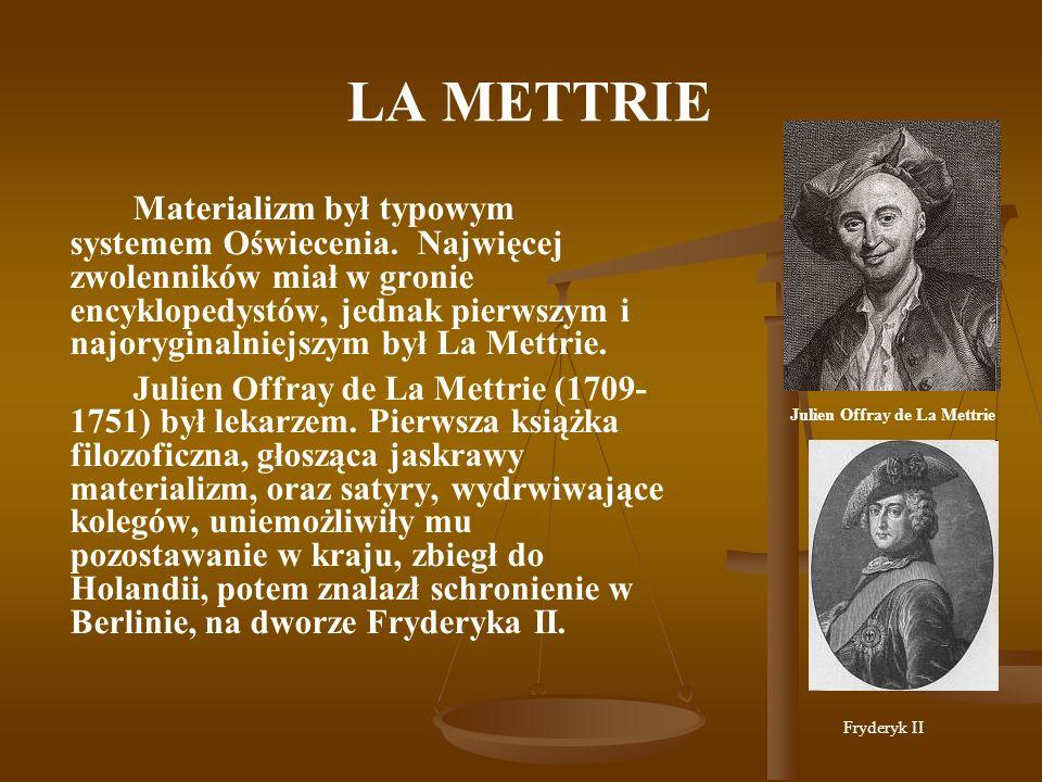 Julien Offray de La Mettrie