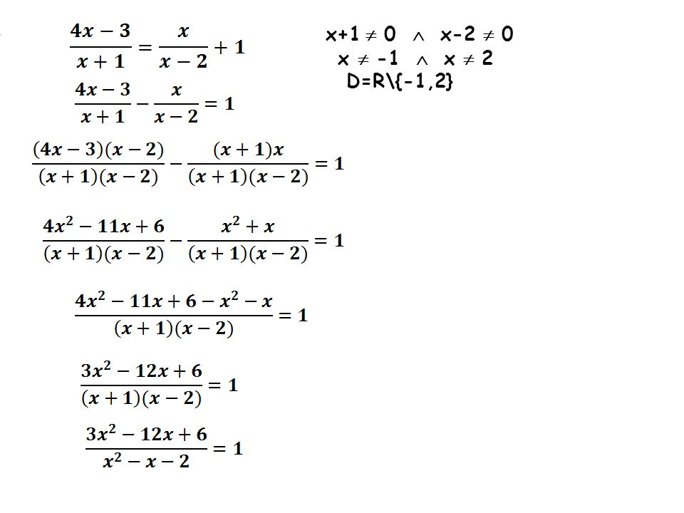 i) x+1  0  x-2  0 x  -1  x  2 D=R\{-1,2}