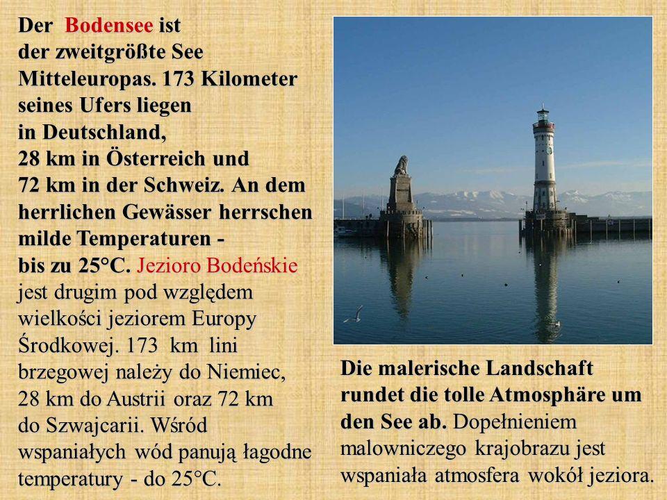 Der Bodensee ist der zweitgrößte See Mitteleuropas