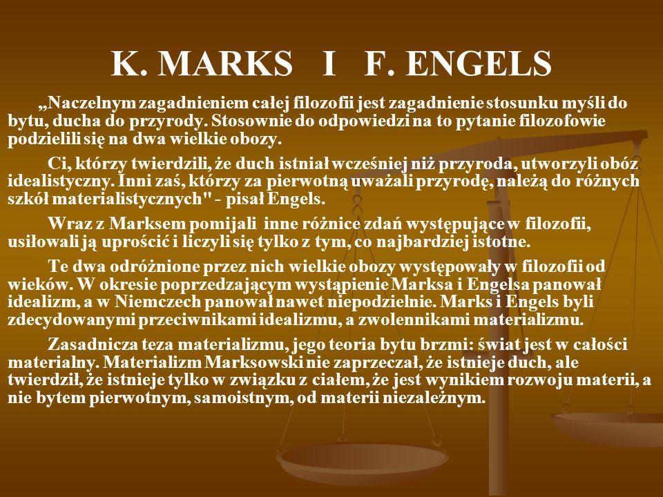 K. MARKS I F. ENGELS
