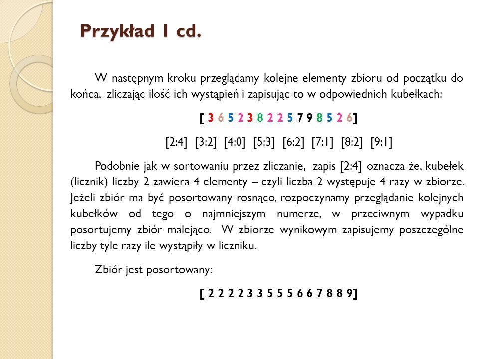 Przykład 1 cd.