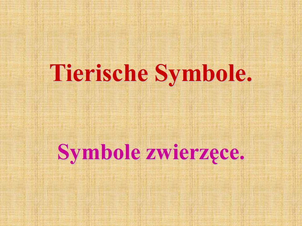Tierische Symbole. Symbole zwierzęce.