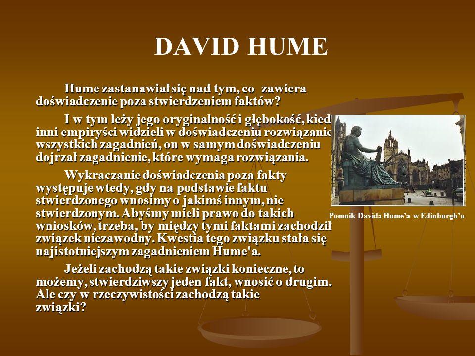 Pomnik Davida Hume'a w Edinburgh'u