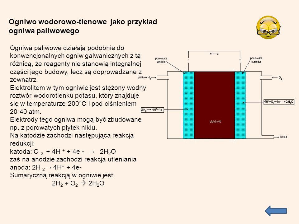 Ogniwo wodorowo-tlenowe jako przykład ogniwa paliwowego