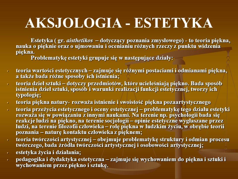 AKSJOLOGIA - ESTETYKA