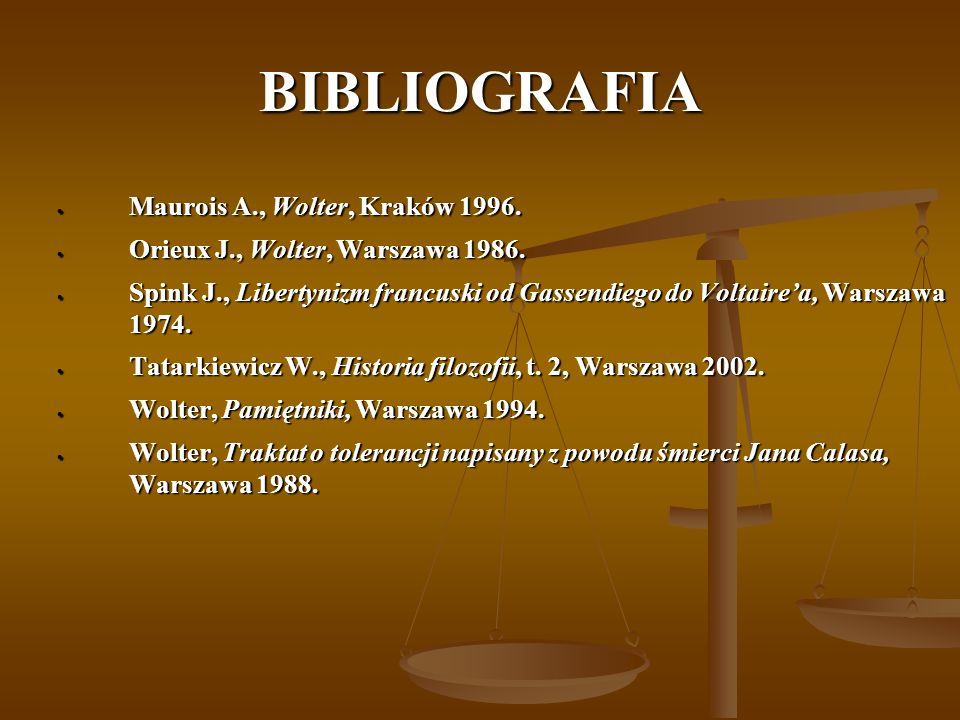 BIBLIOGRAFIA Maurois A., Wolter, Kraków 1996.