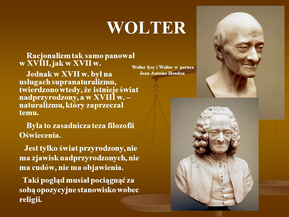 Wolter łysy i Wolter w peruce
