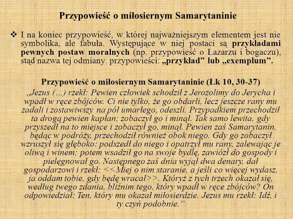 Przypowieść o miłosiernym Samarytaninie
