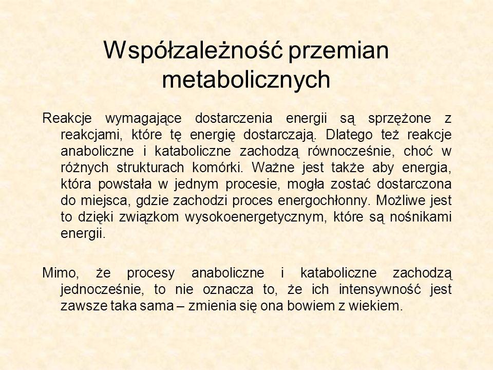 Współzależność przemian metabolicznych